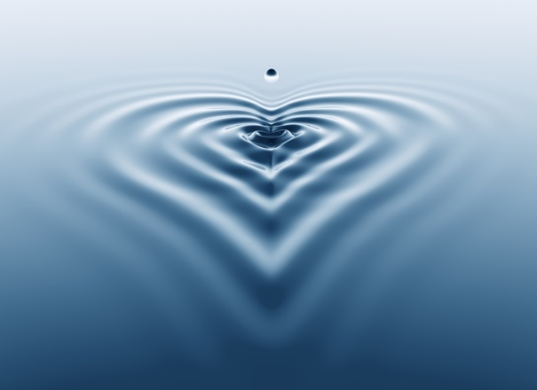 water-heart-shaped