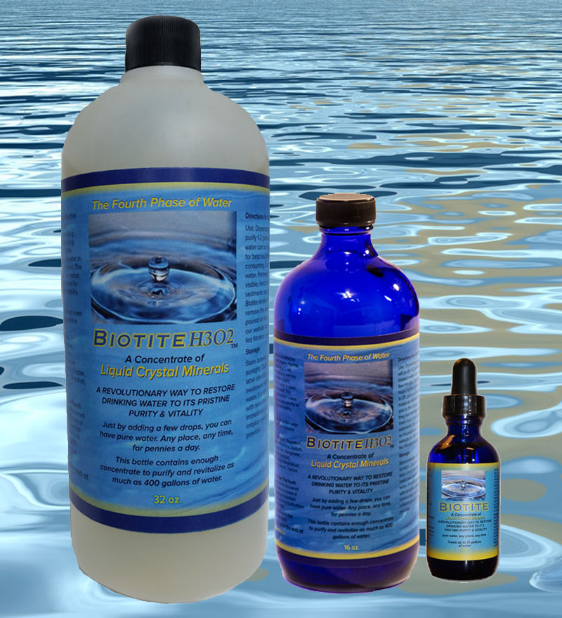 BiotiteH3o2 Liquid Crystal Minerals 32 oz, 16 oz and 2 oz trial size